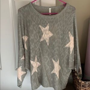Grey and Pink Star Sweater